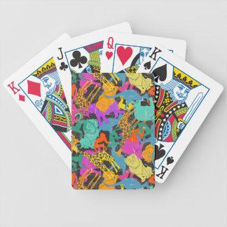 Rétro motif animal de silhouettes jeu de poker