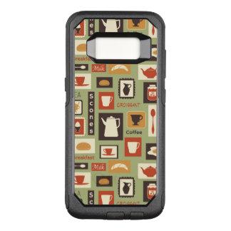 Rétro motif avec des plats de cuisine pour le coque samsung galaxy s8 par OtterBox commuter