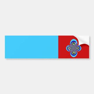 Rétro motif bleu blanc rouge de plaque tournante autocollant de voiture