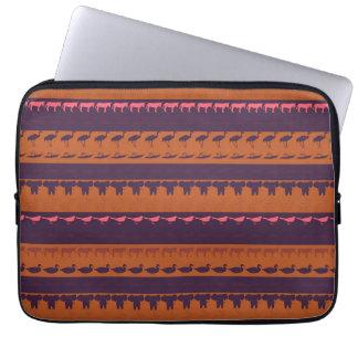 Rétro motif coloré #2 d'animaux protection pour ordinateur portable