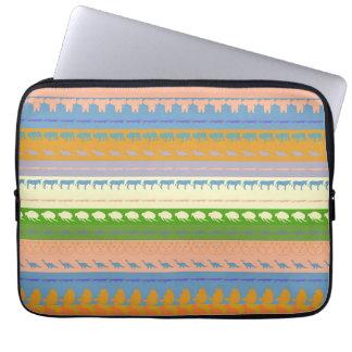 Rétro motif coloré #3 d'animaux housse pour ordinateur portable
