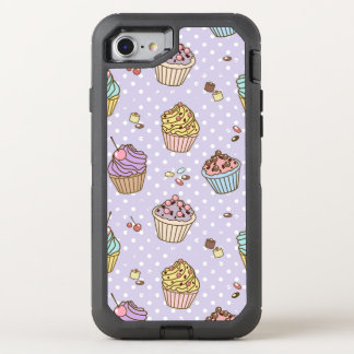 Rétro motif de bonbons coque otterbox defender pour iPhone 7