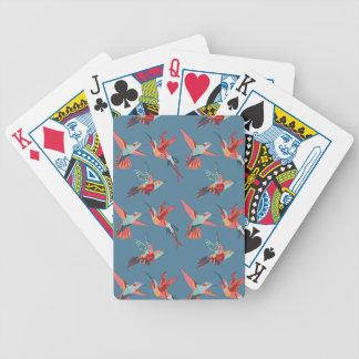 Rétro motif de colibri jeu de cartes