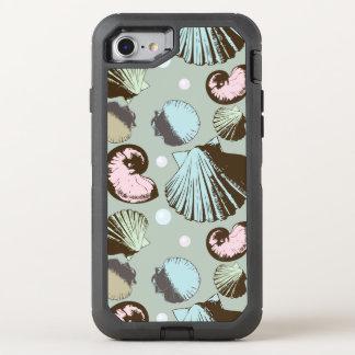 Rétro motif de coquillage coque otterbox defender pour iPhone 7