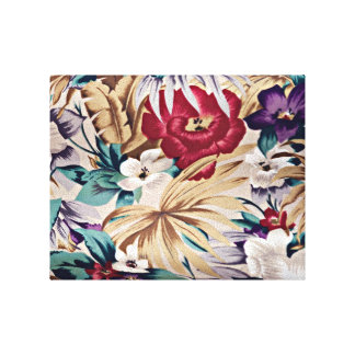 Rétro motif de fleur tropical toile