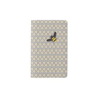 Rétro motif de grille coloré de nid d'abeilles carnet moleskine de poche