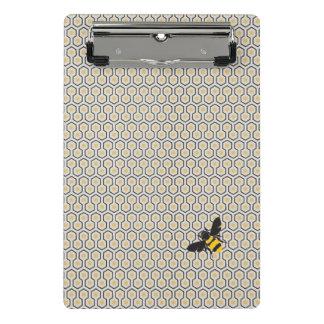Rétro motif de grille coloré de nid d'abeilles mini porte-bloc