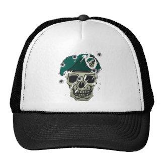 Rétro motif de militaires de crâne et de béret casquette