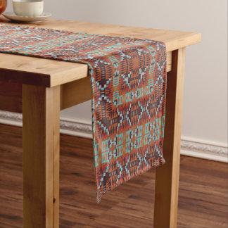Rétro motif de mosaïque abstrait moderne tribal chemin de table court