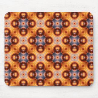 Rétro motif de mosaïque de gradient orange tapis de souris