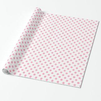 Rétro motif de pois blanc de rose en pastel papier cadeau