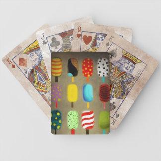 Rétro motif de pois lunatique cartes de poker
