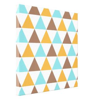 Rétro motif de triangle de couleur toile tendue sur châssis