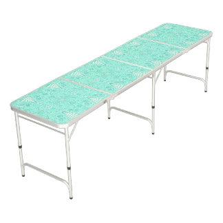 Rétro motif en pastel de vert de mer table beerpong