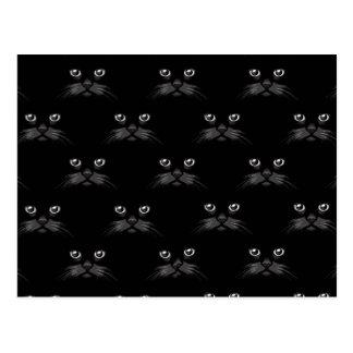 Rétro motif félin magnifique de chat noir cartes postales