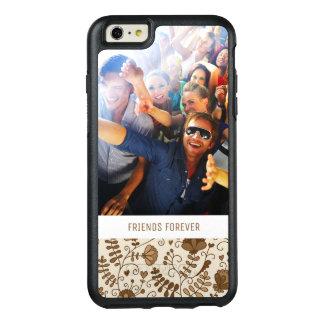 Rétro motif floral fait sur commande de photo et coque OtterBox iPhone 6 et 6s plus