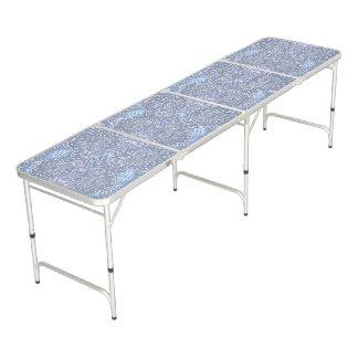 Rétro motif floral pourpre table beerpong