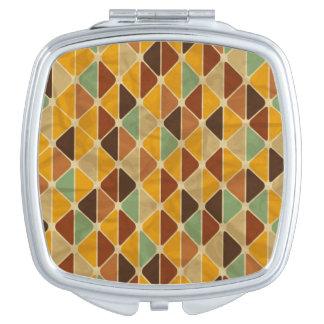 Rétro motif géométrique 3 miroirs de voyage