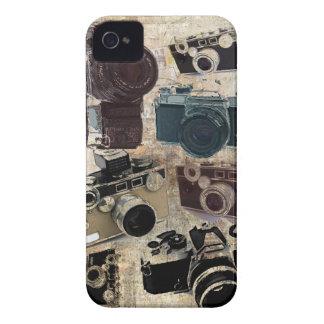 Rétro motif grunge vintage d'appareils-photo coques Case-Mate iPhone 4