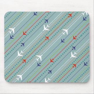 Rétro motif Mousepad d'avion Tapis De Souris