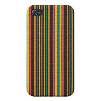 Rétro motif rayé coloré coques iPhone 4