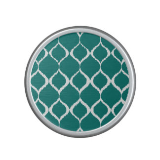 Rétro motif tribal géométrique turquoise haut-parleur bluetooth