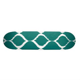 Rétro motif tribal géométrique turquoise plateaux de skateboards customisés