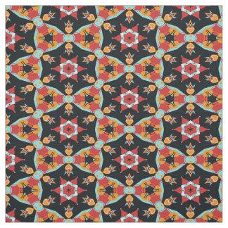 Rétro motif vintage coloré mignon de Nouveau Deco Tissu