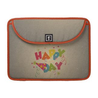 Rétro motif vintage de joyeux anniversaire poche pour macbook