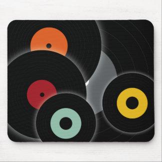 Rétro mousepad de disques tapis de souris
