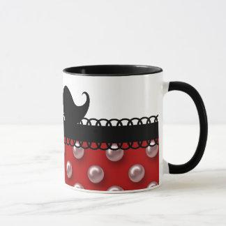 Rétro moustache de moustache de guidon mugs