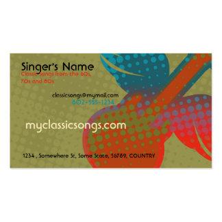 Rétro musique carte de visite standard