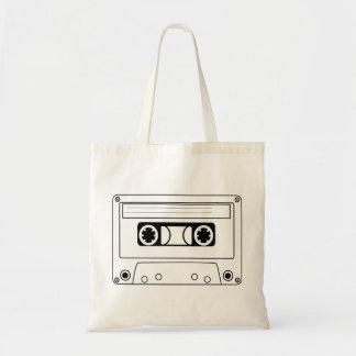 Rétro musique de grunge d'enregistreur à cassettes sacs en toile