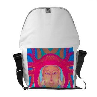 Rétro nature hippie de femme de sac psychédélique  sacoches