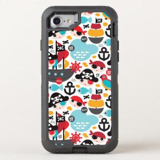 Rétro navigation d'illustration de pirates coque OtterBox defender iPhone 8/7