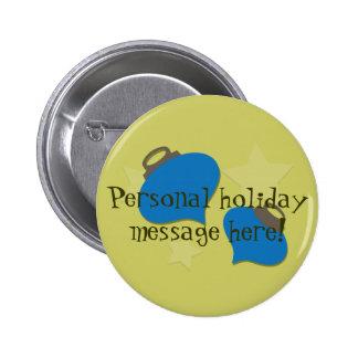 Rétro Noël olive d'ornement Pin's