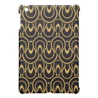Rétro noir abstrait élégant et or d'art déco coques pour iPad mini