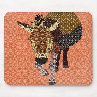 Rétro orange Mousepad de Moïse Tapis De Souris