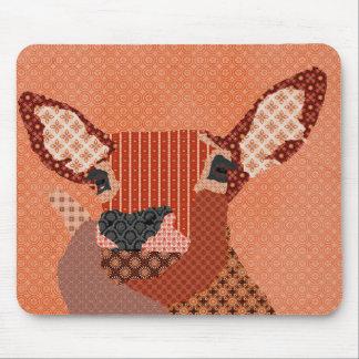 Rétro orange Mousepad de renne Tapis De Souris