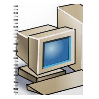 Rétro ordinateur carnets