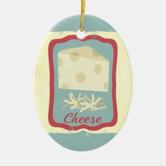 Rétro ornement de Noël de fromage suisse de petit