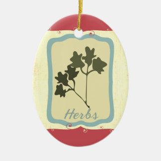 Rétro ornement de Noël d'herbes d'icône de