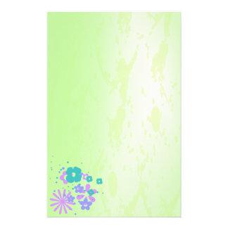 Rétro papeterie grunge florale motifs pour papier à lettre
