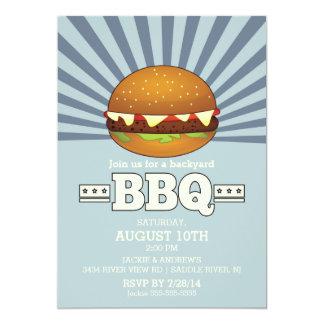 Rétro partie vintage de barbecue carton d'invitation  12,7 cm x 17,78 cm