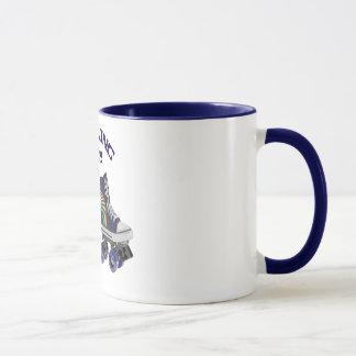 Rétro patinage de rouleau fait sur commande mug