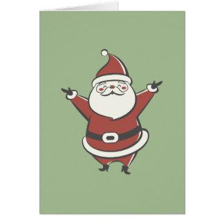 Rétro Père Noël Cartes