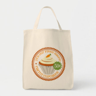 Rétro petit gâteau de carotte sac fourre-tout