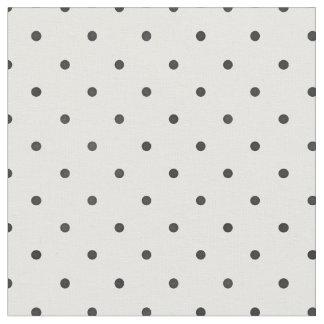 Rétro petit motif de pois noir et blanc tissu
