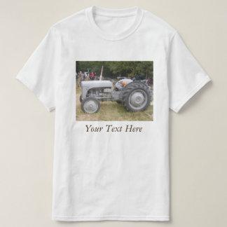 Rétro photo de massey de tracteur gris vintage de t-shirt