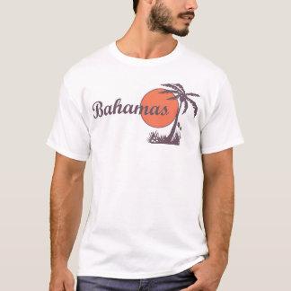 Rétro pièce en t de touristes de paume des Bahamas T-shirt
